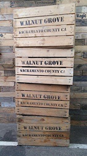 4-Stck-massive-gebrauchte-Holzkisten-mit-Druck-Walnut-Grove-Sacramento-County-CA