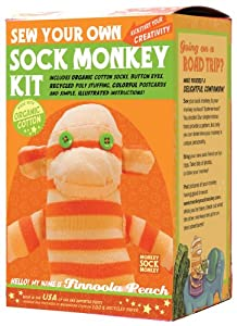Sock Monkey Kit, Orange , Made in the USA