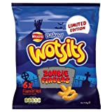 Walkers Baked Wotsits Limited Edition Zombie Fingers Flamin' Hot Flavour Corn Puffs 6 x 17.5g (Pack of 15)