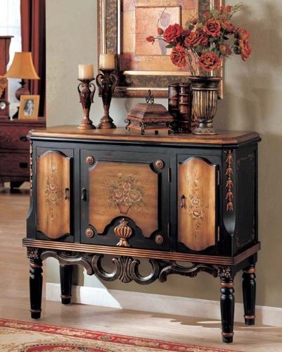Cheap Console Table Golden and Black Finish (VF_AZ00-42177×21896)