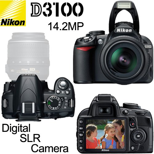 Nikon D3100 14.2MP Digital SLR Camera with 18-55mm f/3.5-5.6
