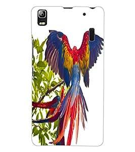 ColourCraft Beautiful Parrot Design Back Case Cover for LENOVO A7000 PLUS