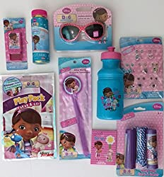 Disney Junior Doc Mcstuffins Play Jewel, Sunglasses, Water Bottle, Wand, Bubbles, Jump Rope And Playpack Summertime Fun Bundle