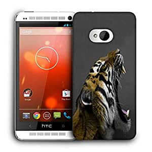 Snoogg Tiger Roar Printed Protective Phone Back Case Cover For HTC One M7