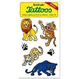 Raubkatzen Tattoos (Löwe, Tiger, Leopard, Panther) von Lutz Mauder // Kinder Kindertattoo Tatoo Tatto Kindergeburtstag Geburtstag Mitgebsel Geschenk