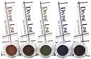 Coastal Scents Divine Line Gel Eyeliner Set,  0.14 fl. oz. each, 5 colors