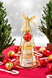 Candy Cane! Gold iron plated Christmas tree bath and body perfumed gift set ! 2015 Holiday Edition