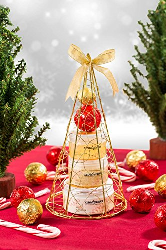 Candy Cane! Gold iron plated Christmas tree bath and body perfumed gift set !