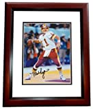 Mark Rypien Autographed/Hand Signed Washington Redskins 8x10 Photo MAHOGANY CUSTOM FRAME at Amazon.com