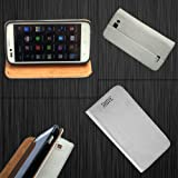 i-KitPit - PU Leather Flip Case Cover For Karbonn A50 (WHITE) available at Amazon for Rs.379