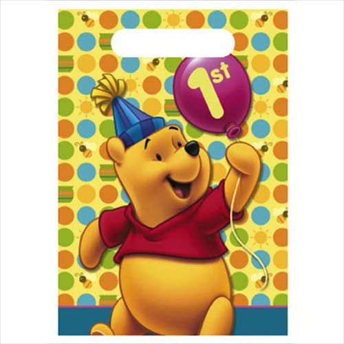 Winnie The Pooh Balloon 1St Birthday Favor Bags (8Ct) front-1022739