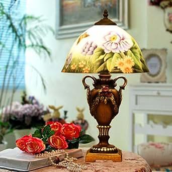 Vetro scultura lampada macchiato retro dipinto a mano in for Casa in stile europeo