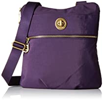Baggallini Gold International Hanover Crossbody, Grape