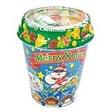 【クリスマスお菓子】チロルチョコ クリスマスカップ・40個入り(5カップ)  / お楽しみグッズ(紙風船)付きセット [おもちゃ&ホビー]