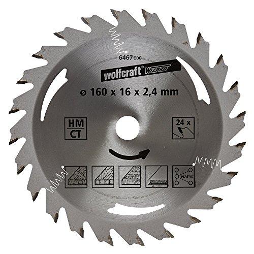 Wolfcraft-6467000-HM-Kreissgeblatt-24-Zhne--160-x-16-x-24