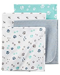 Carter\'s Flannel Receiving Blankets, Paws