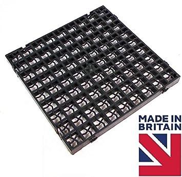 1 x schwarz hofeinfahrt raster rasengitter aus plastik mit rasen. Black Bedroom Furniture Sets. Home Design Ideas