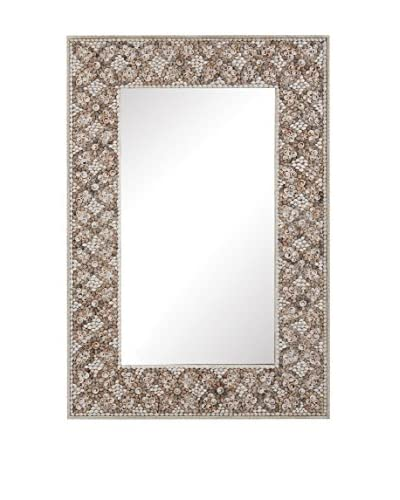 Artistic Lighting Cross Hatch Shell Mirror, Natural