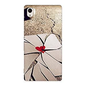 Gorgeous Broken Heart Ace Print Back Case Cover for Sony Xperia M4