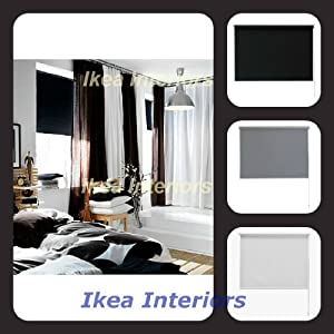 ikea tupplur black out blind grey white or black available in 4
