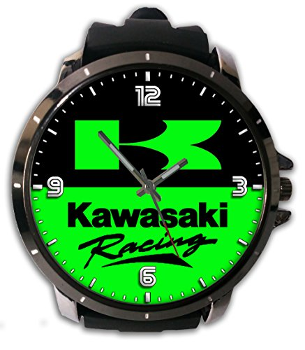 Hot Item Custom Kawasaki Image Logo Printed Snap On Watch Alloy Stainless-Steel With Rubber Band