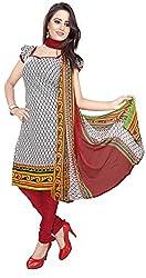 Jinal Fashion women's crepe dress material (Multi-Coloured_color)