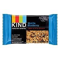 KIND Healthy Grains Granola Bars, Vanilla Blueberry, 1.2oz Bars, 15 Count