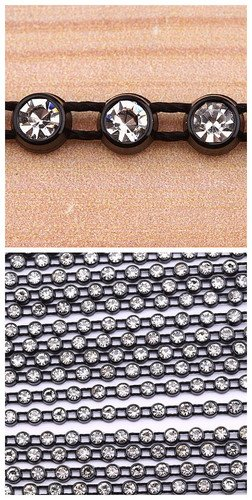 10yard Rhinestones Trimming Banding Crystal White I0091-3
