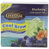 Celestial Seasonings Blueberry Cool Brew Iced Green Tea, 40-Count Tea Bags (Pack of 6) ~ Celestial Seasonings
