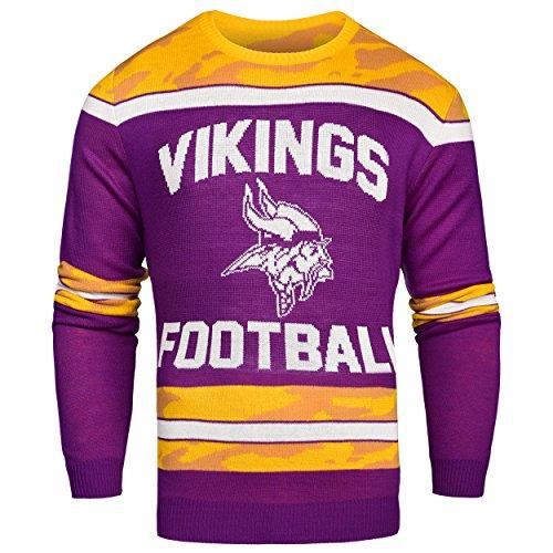 NFL Minnesota Vikings Ugly Glow In The Dark Sweater