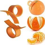 Big Bargain 2 x Orange Opener Peeler Slicer Cutter Plastic Lemon Citrus Fruit Skin Remover