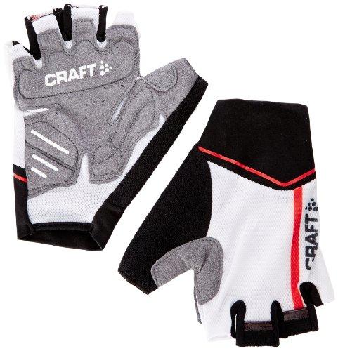 Craft Craft3 Performance - Guanti da uomo per ciclismo, multicolore (Nero/bianco/rosso), M