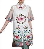Blouse ou tunique 100% Faite-mian du lin pur - Art de la broderie Chinoise/ Oriental #121