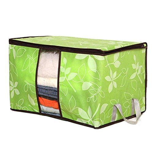 San Tokra 4Pcs Foldable Home Quilt Pillow Blanket Clothing Storage Bag Flower Printed Container Box (Storage Containers Blanket compare prices)