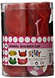 Present Time Silly Animal Shower Cap, Animal Styles, Yellow/Pink/Green