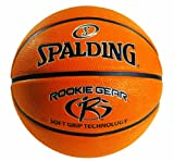 Spalding Rookie Gear Indoor/Outdoor Basketball with Soft Grip Technology, 27.5-Inch