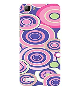 ifasho Animation Clourful Circle Pattern Back Case Cover for VIVO Y53