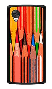 "Humor Gang Colour Pencils Printed Designer Mobile Back Cover For ""Lg Google Nexus 5"" (3D, Glossy, Premium Quality Snap On Case)"