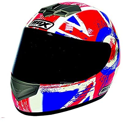 Box BX-1 Union Jack Casque Moto