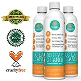Best Dog Ear Cleaner Solution -- Alcohol Free Dog Ear Mite Treatment By OmegaPet Is A 100% All Natural and USA Made Dog Ear Infection Treatment for Dogs & Cats -- Chemical Free Dog Ear Mites Cleanser Gently Cleans Dirt/Ear Wax and Eliminates Odors, the Perfect Ear Mite Treatment for Dogs & Cats -- 90 Day Money-Back Gaurantee