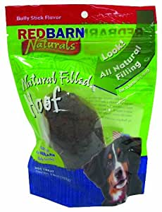 red barn naturals bully stick filled hoof dog chew 3 6 oz pet rawhide treat sticks pet. Black Bedroom Furniture Sets. Home Design Ideas