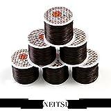 黒ブラック!ブレスレット用オペロンゴム70m、シリコンゴム、水晶の線 糸0.8mm 1個
