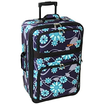 Large 28'' Super Lightweight Expandable Suitcase (Blue Multi)