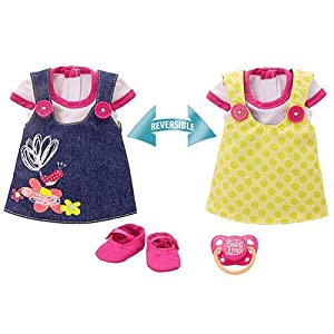 Baby Alive Adorable In Denim Reversible Dress Yellow