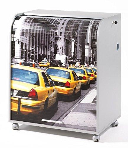 """Ufficio segretario MUST 095-informatique-New York-taxi gialli """", colore: bianco"""