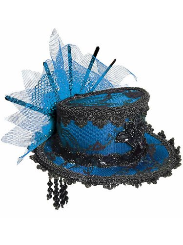 Mini Blue Lace Top Hat