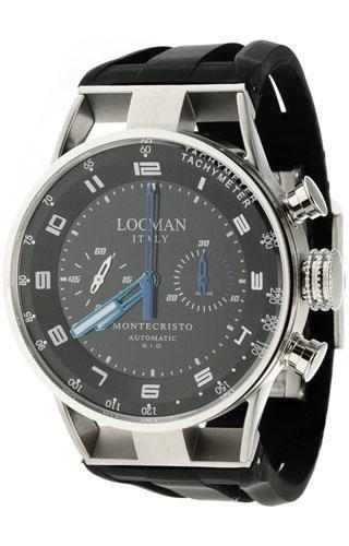 Locman montre homme chronographe automatique Montecristo 0514V03-00BKSSIK