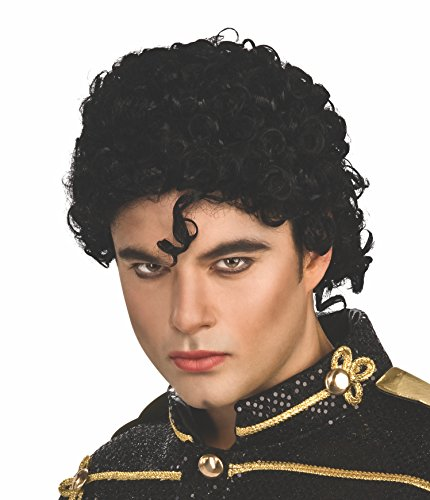 Michael Jackson Curly Thriller Wig to add to your costume. Low cost.