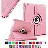 Fintie Apple iPad 2/3/4 Case - 360 Degree Rotating Stand Smart Case Cover for iPad with Retina Display (iPad 4th Generation), the new iPad 3 & iPad 2 (Automatic Wake/Sleep Feature), Pink