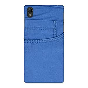 Enticing Blue Jeans Back Case Cover for Sony Xperia Z2